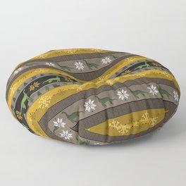 Loch Ness Fair Isle Floor Pillow