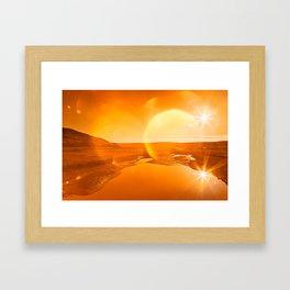 Twin Suns of Point Reyes - Gold Bokeh Bliss Framed Art Print