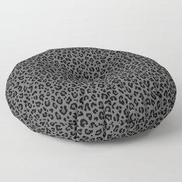 LEOPARD PRINT in Black & Gray / Collection : Leopard spots – Punk Rock Animal Print Floor Pillow