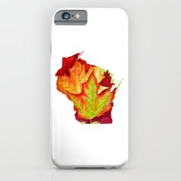 Wisconsin Leaves iPhone Case