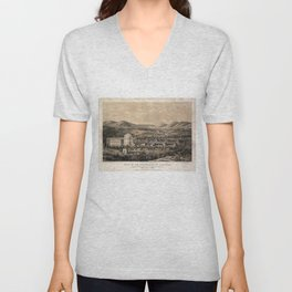 University of Virginia, Charlottesville & Monticello (1856) Unisex V-Neck