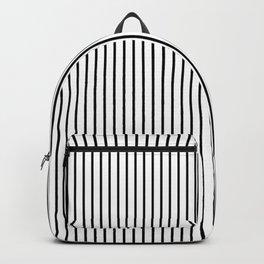 Large Black Pinstripe On White Backpack