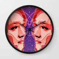 gemini Wall Clocks featuring Gemini by Steve W Schwartz Art