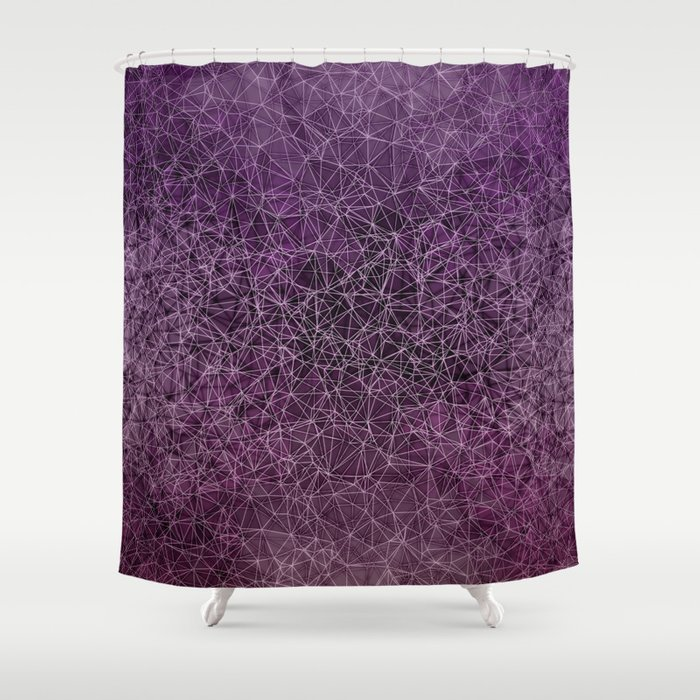 Mesh Polygonal Purple And Pink Shower Curtain