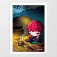 cinderella Art Prints featuring Cinderella by  • naylapulga