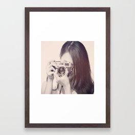 Black and White Love  Framed Art Print