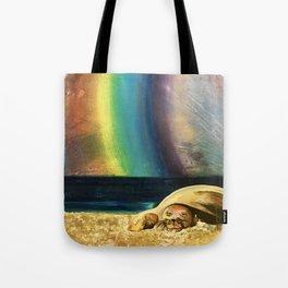 Sleepy Seal on the Beach Tote Bag
