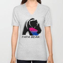 Papa Bear Bisexual Unisex V-Neck