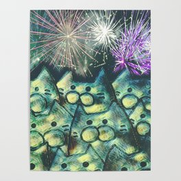 fireworks display posters society6