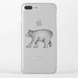 Ursus Americanus Clear iPhone Case