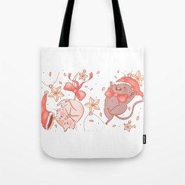 Holiday Gerbils Tote Bag