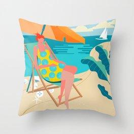 Ocean Breezes Throw Pillow