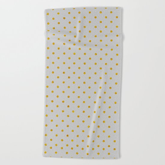 Polka dot dance on grey Beach Towel
