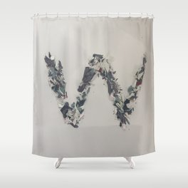 Letter W in Paint Shower Curtain