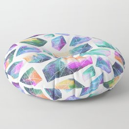 Geometric Crystals Amethyst Geode Pattern 1 Floor Pillow