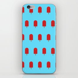 Red Popsicles - Blue Background iPhone Skin