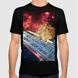 Space Cat with Synthesizer 1 T-shirt