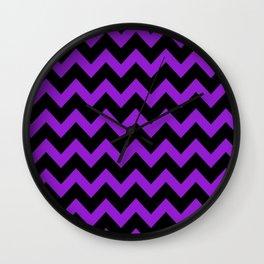 Purple Chevron Wall Clock