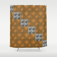 techno Shower Curtains featuring Techno by Karl-Heinz Lüpke