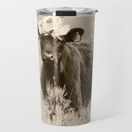 Daisy- Cream Travel Mug