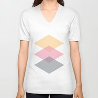 nursery V-neck T-shirts featuring Nursery Triangles  by MarianaLage
