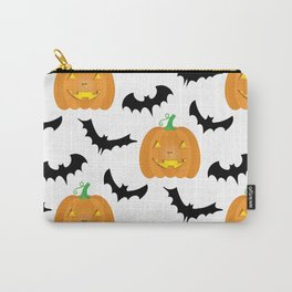 Halloween Pumpkins and Bats Carry-All Pouch