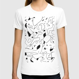 minimal black and white / line art T-shirt
