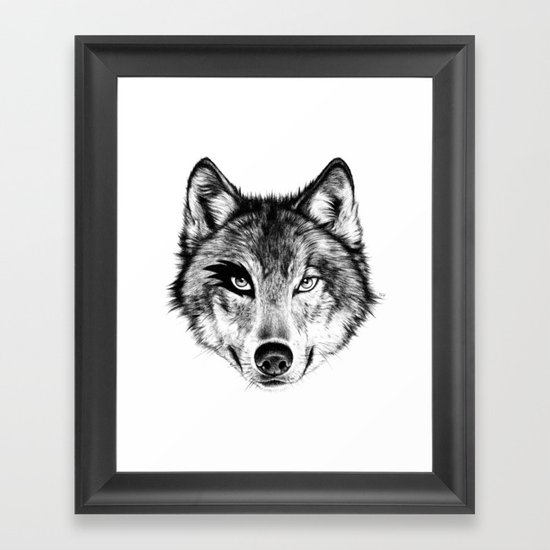The Wolf Next Door Framed Art Print