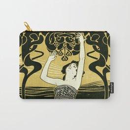 Art Nouveau Vintage Poster by Koloman Moser - Kunst fur Alle - Art for Everyone Carry-All Pouch
