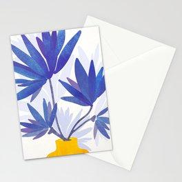 Indigo Blooms / Abstract Botanical Stationery Cards