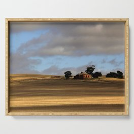 Rural Landscape and Farmhouse in Australia Serving Tray