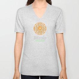 Bitcoin - sacred circle - I sell (BTC) Unisex V-Neck