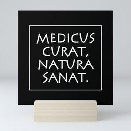 Medicus curat natura sanat Mini Art Print