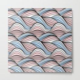 Thread pink blue Metal Print