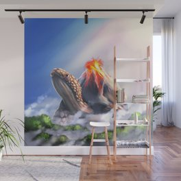 Volcano turtle Wall Mural