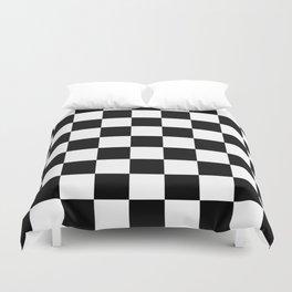 Black&White Checkered Pattern Duvet Cover