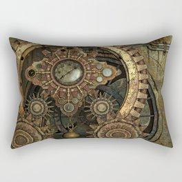 Rusty Vintage Steampunk Gears Rectangular Pillow