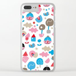 Fredrick n' friends holiday time Clear iPhone Case