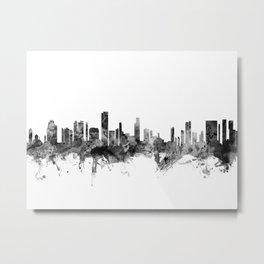 Honolulu Hawaii Skyline Metal Print