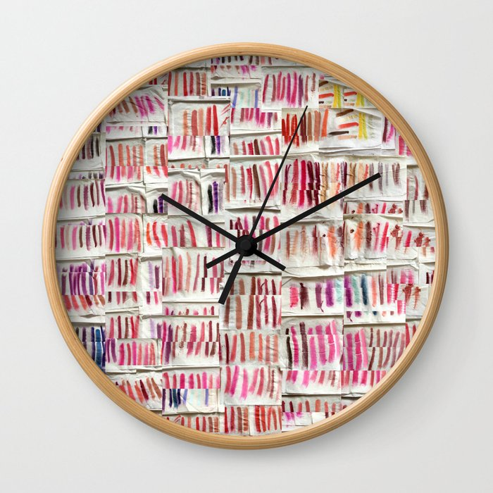 Lipstick Swatches Wall Clock