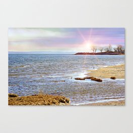 Sunset At The Beach - Tod's Point Canvas Print
