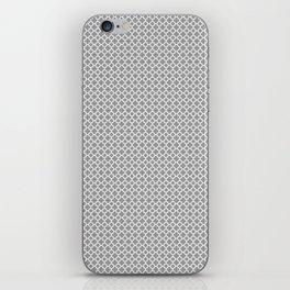 Quatrefoil Grey iPhone Skin