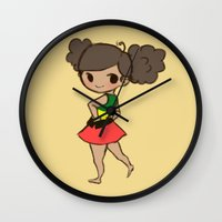 jamaica Wall Clocks featuring Jamaica 2 by Cat in the Box