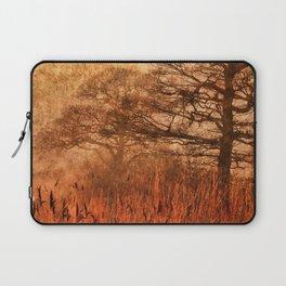 Misty Trees in Watergate Park Laptop Sleeve