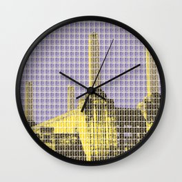 Battersea Power Station - Violet Wall Clock
