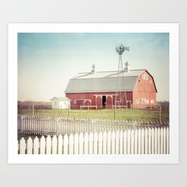 Farm Life ~ Red Barn Art Print