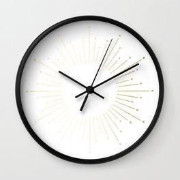 Mod Sunburst Gold 2 Wall Clock