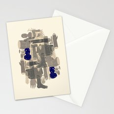 two blue bodys Stationery Cards