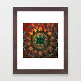 Sun Mandala Framed Art Print