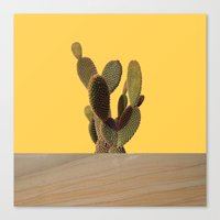 cacti Canvas Prints featuring CACTI by MODERN UNDERGROUND